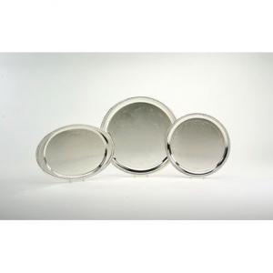 Round Chrome Serving Tray , 14