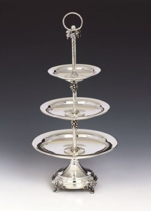 Silver Tray with Three Tiers