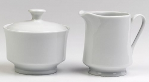 Creamer & Sugar Set, White