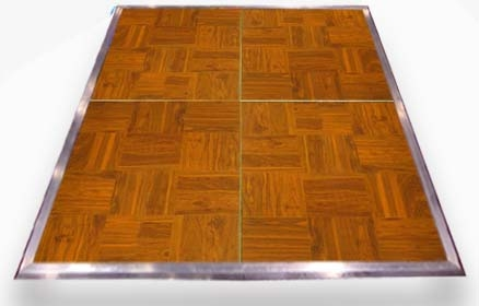 Wood Grain Vinyl Portable Dance Floor
