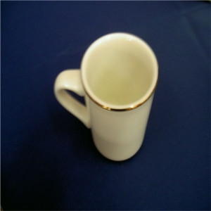 Coffee Mug - Ivory w/Gold Band