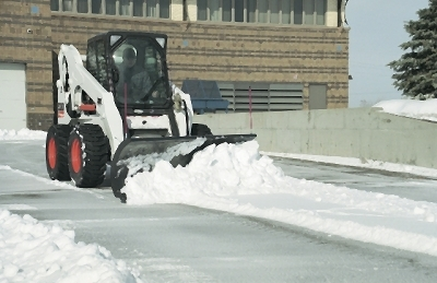 Skid Steer Loader w/ Snowplow