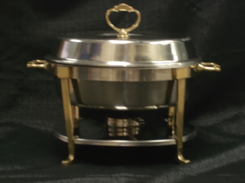 Round Chafer with Gold Accents