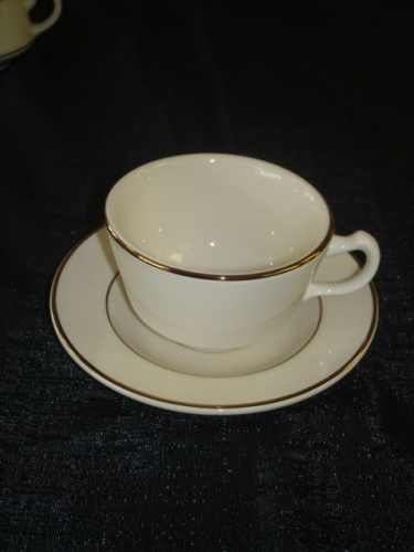 Ivory With Gold Band Coffee Cup