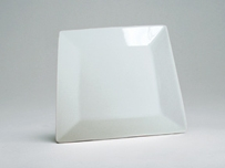 China White Square Dinner Plate