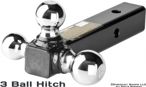 3 way receiver hitch
