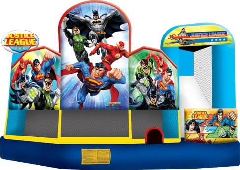 Amusement - Inflatable Justice League 5-in-1 Combo
