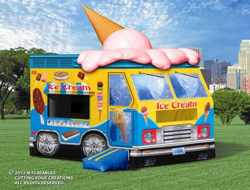 Amusement - Inflatable Ice Cream Truck Bouncer