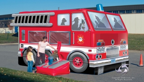 Amusement - Inflatable Fire Truck Bouncer