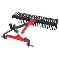 6 Ft. 3-Point Landscape Rake