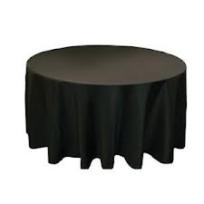 Tablecloth - Black Round 120