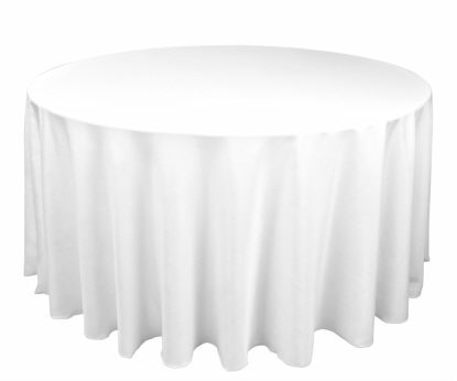 Tablecloth - White Round 120