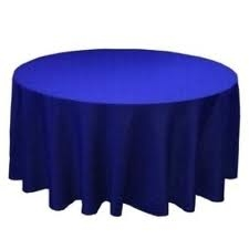 Tablecloth - Royal Blue Round 96