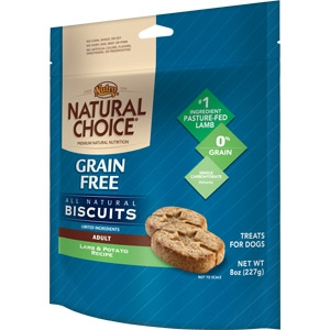 NATURAL CHOICE Grain Free Adult Biscuits Lamb & Potato Recipe