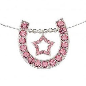 Rhinestone Horseshoe and Star Choker