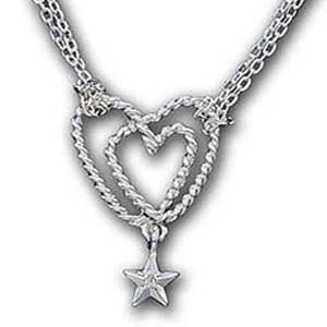 Roped Up in Love Necklace