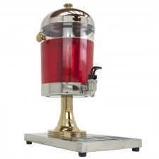Juice Dispenser 2 gal, Stainless & brass