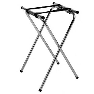 FOLDING TRAY STANDS, CHROMEPLATED