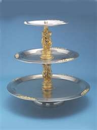 3 Tier Tray With Gold Figurines