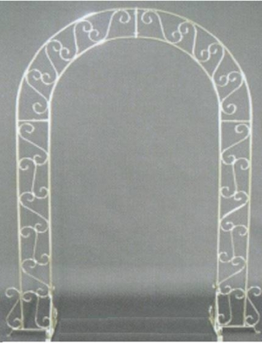 Wedding Arch, White with Plant Stands