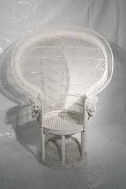 CHAIR WHITE WICKER