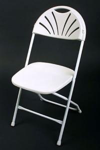 Chair, White Fanback