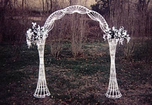All Seasons Wicker White Wedding Arch