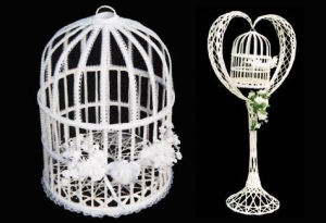All Seasons Wicker White Bird Cage