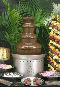 Buffet Enhancements Chocolate Fountain, SS, 3 Tier, 27 in.