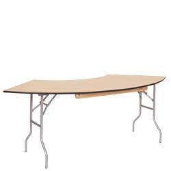 Serpentine Table, 5'