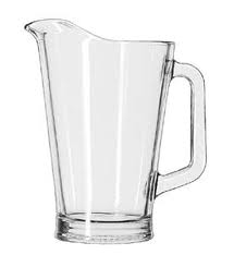 PITCHER, GLASS
