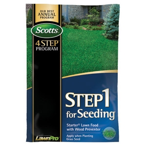 Scotts® Step 1 for Seeding Starter Lawn Food with Weed Preventer