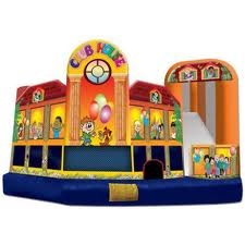 INFLATABLE CLUB HOUSE 5 IN 1 WITH SLIDE