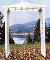 Wooden Wedding Arch, Flat Top