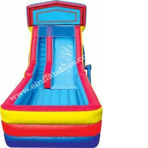 Inflatable Dry Slide - 18' Mod. Wet & Dry Slide with Landing