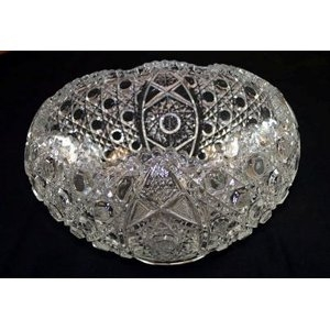 Daisy & Button Glass Punch Bowl