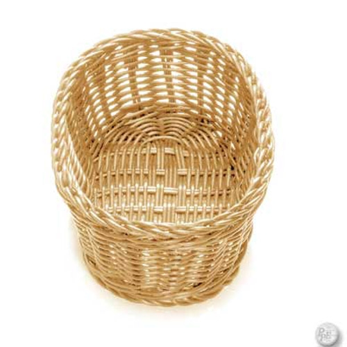 OVAL WICKER BASKET, NATURAL