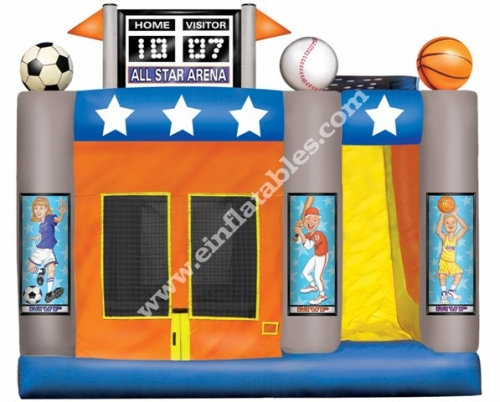 Einflatables 4 in 1 Sports Arena Moonwalk Bounce