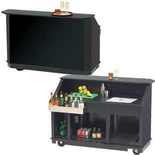 PORTABLE BAR, BLACK