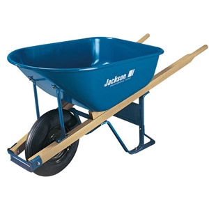 6 Cubic Foot Jackson® Steel Contractor Wheelbarrow