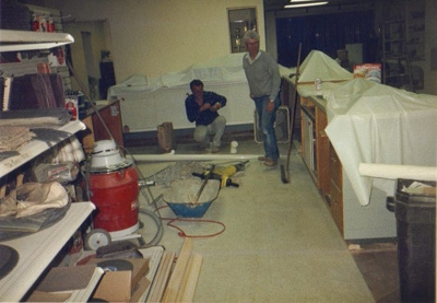 Uncle Stu & Uncle Bob Remodeling the Orange Store 1990