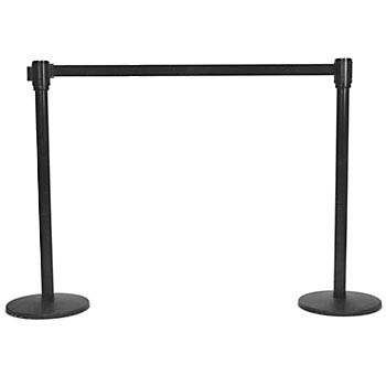 Stanchions black tensabarrier