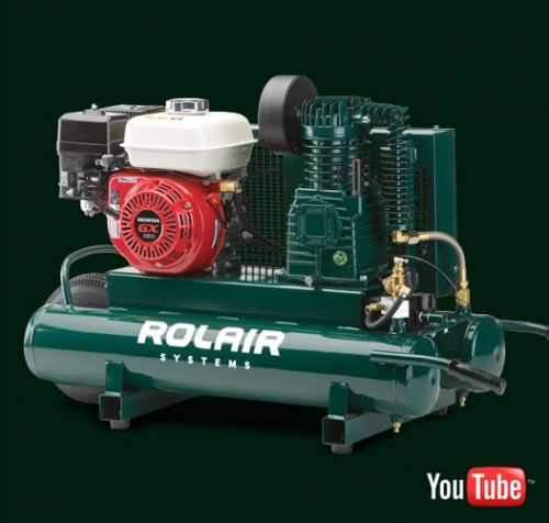 Rol-Air 9 cfm @90 psi 8 gallon Wheelbarrow Air Compressor