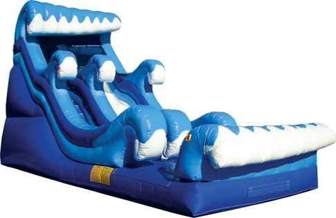 Inflatable Coral Bay Wet dry Slide