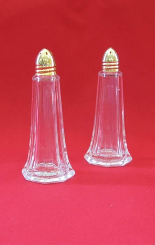 Salt and Pepper Shaker Gold Lid