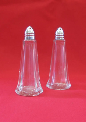 Salt and Pepper Shaker Silver Lid