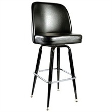 Bar Stool Black Leather