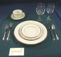 Dinnerware, Off White Place Settings