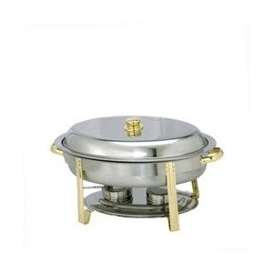 Stainless Steel with Gold Chafer