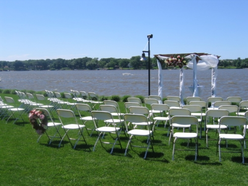 White Chairs on Lake Macatawa